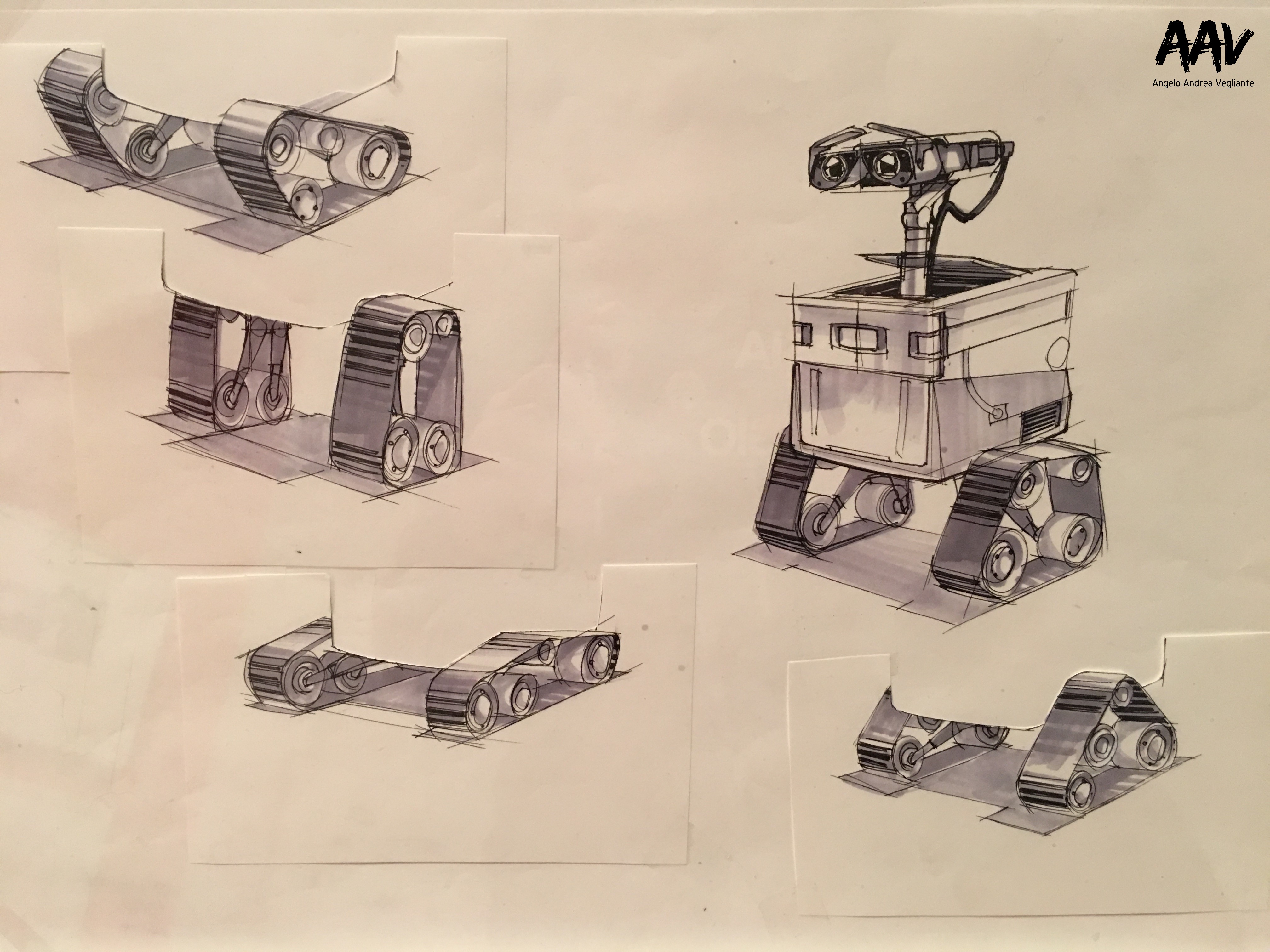 Walle-pixar-mostra-arte-palazzo delle esposizioni-pixar 30 anni di animazione-angelo andrea vegliante