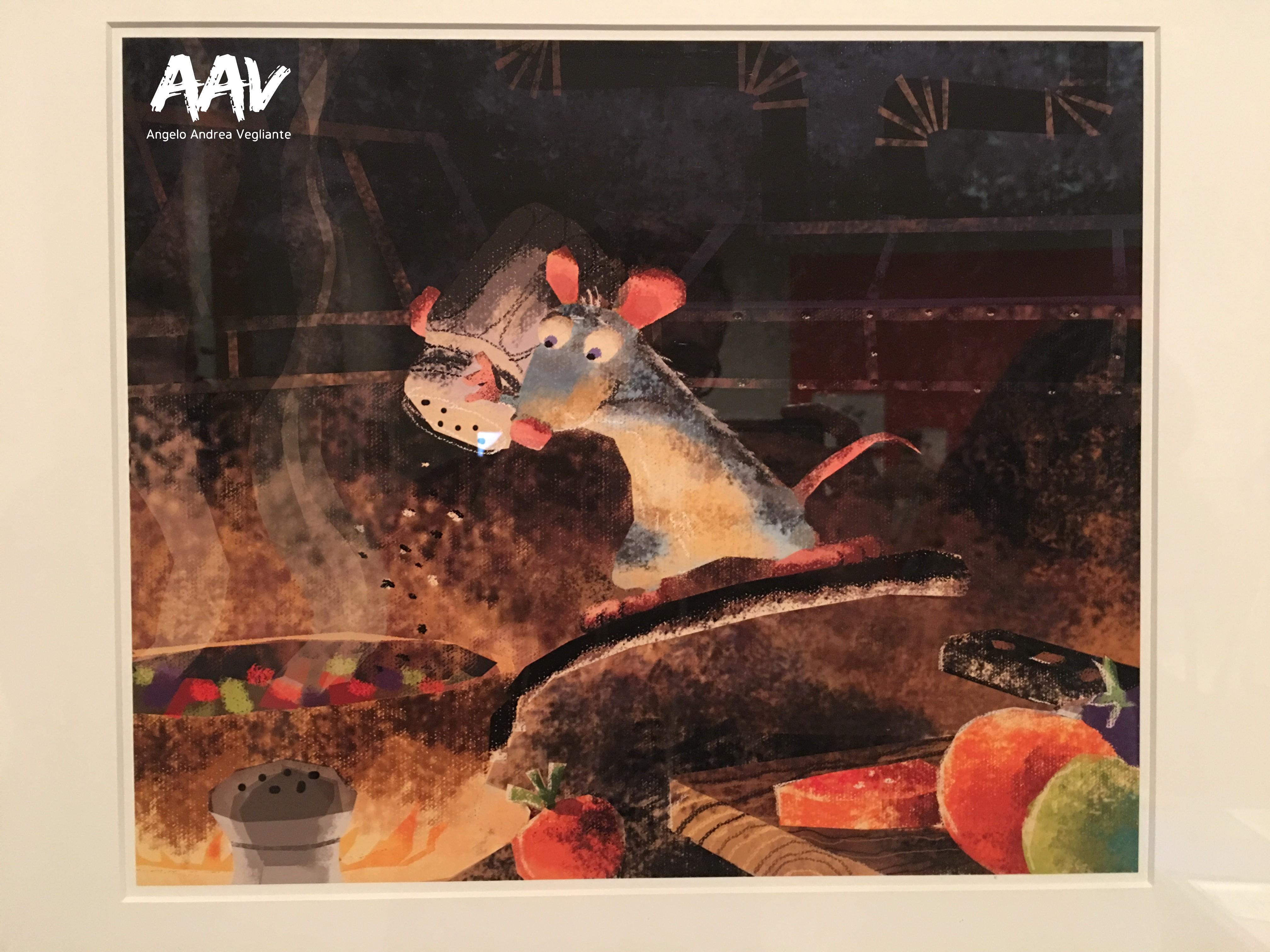 ratatouille-pixar-palazzo delle esposizioni-angelo andrea vegliante-mostra-pixar 30 anni di animazione
