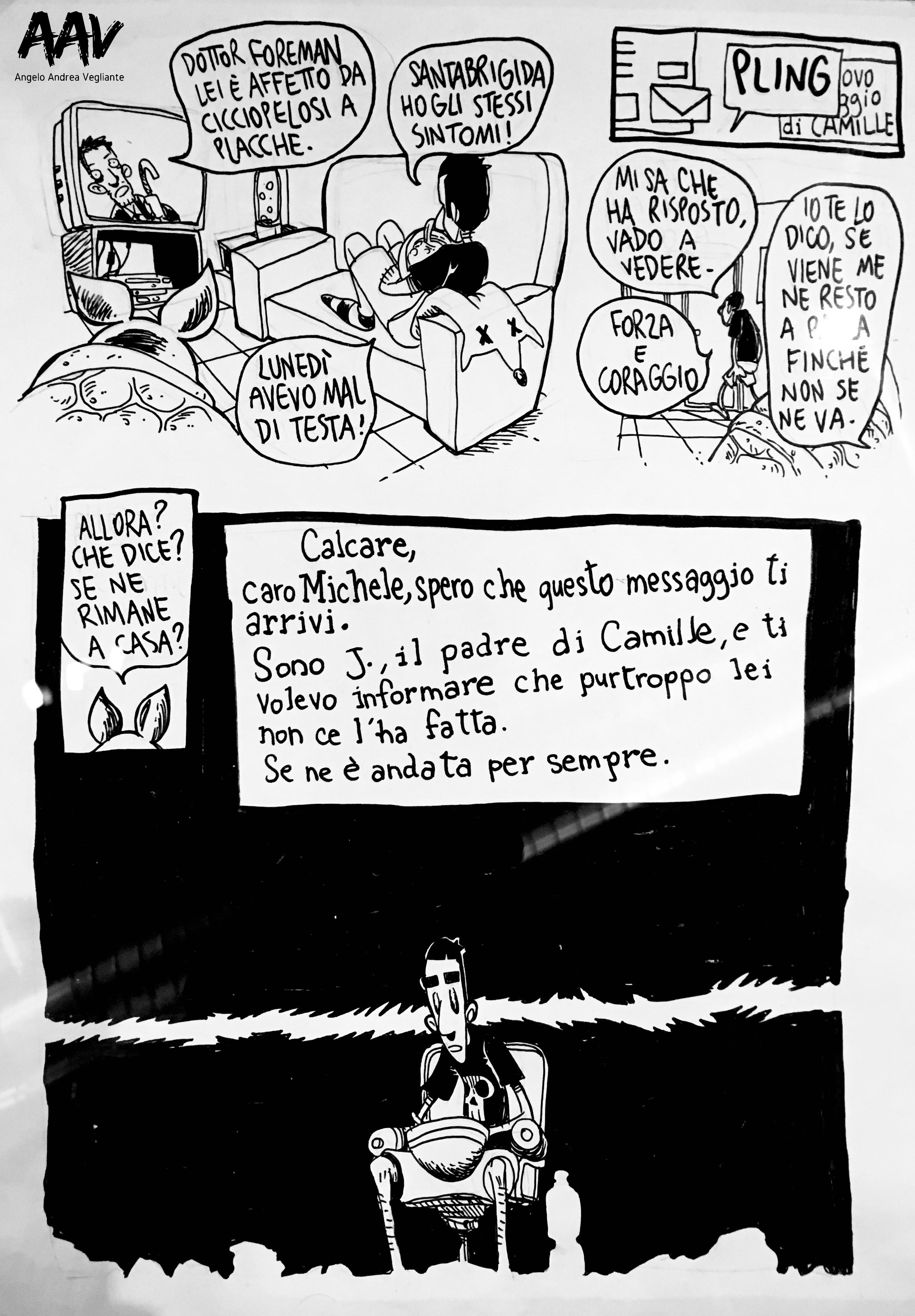 zerocalcare-mostra-MAXXI-Roma-scavare fossati nutrire coccodrilli-fumetto-angelo andrea vegliante-colui che veglia-colui che mostra-tavola-morte
