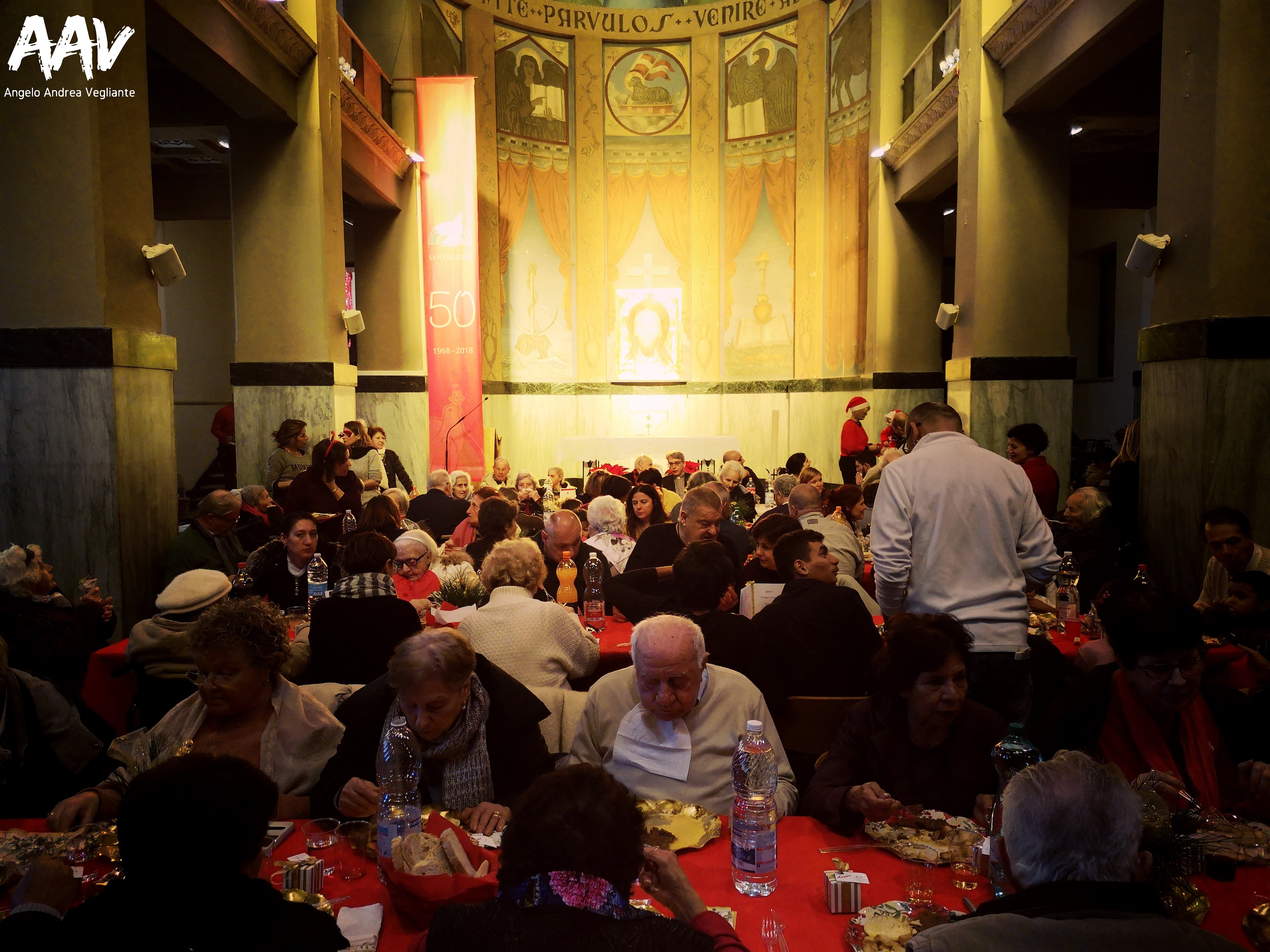 pranzo di natale-comunità di sant'egidio-ostia lido-angelo andrea vegliante-colui che veglia