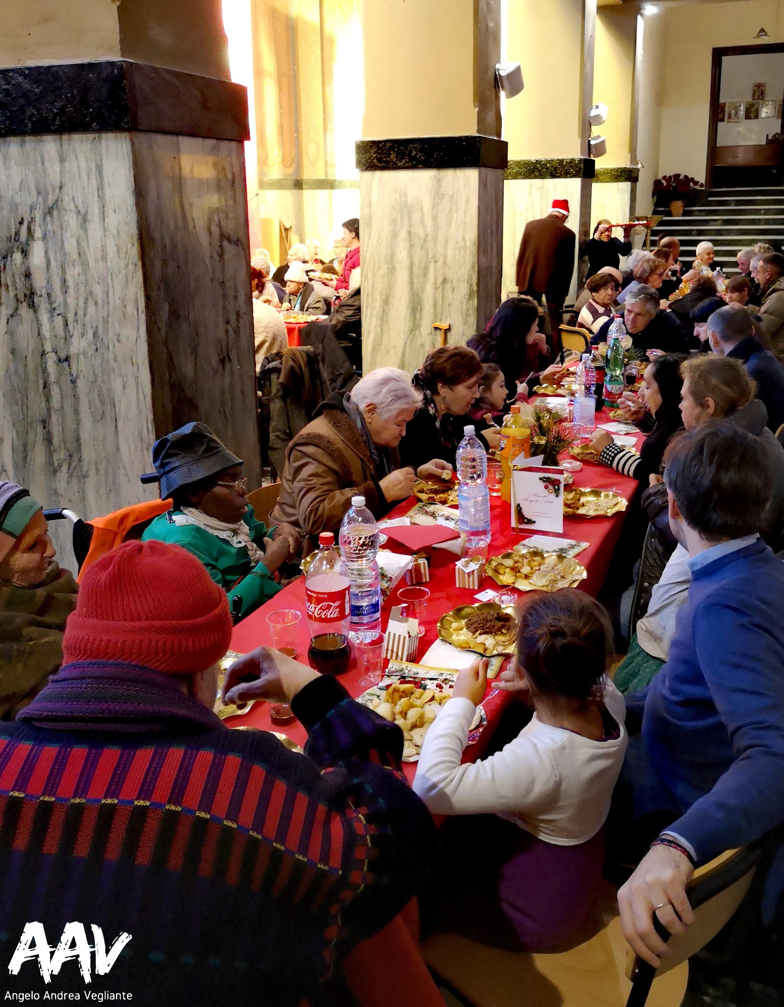 comunità sant'egidio-angelo andrea vegliante-colui che veglia-pranzo di natale-sant'egidio-ostia lido