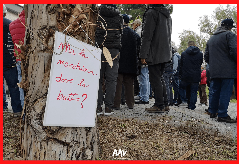cartello manifestazione roma lido